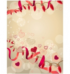 Abstract festive garland vector