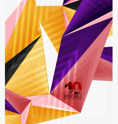 3d modern triangle low poly abstract geometric vector