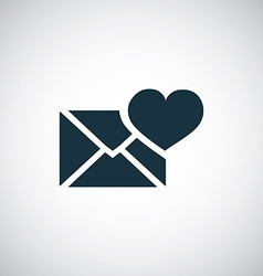 Heart mail icon vector