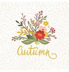 Autumn card design vector