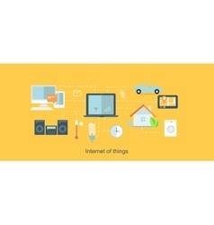 Internet of things icon flat design vector