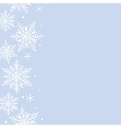 lace snowflakes pattern border vector image