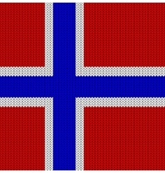 Knitted flag of norway vector