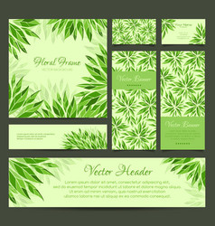 Set of banners business card frame and headers vector