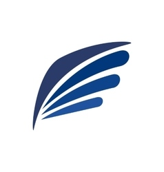 Eagle wing icon simple style vector image