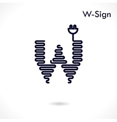 Creative w- letter icon abstract logo design vector