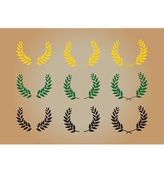 laurel wreathth vector image