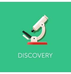 Microscope icon scientific discovery modern flat vector