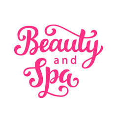 Beauty and spa salon logo hand lettering vector