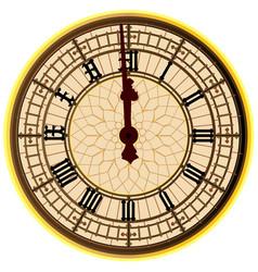 big ben midnight clock face vector image vector image