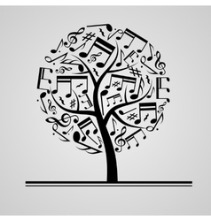 Black music tree vector