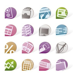 business and finance tags vector image vector image