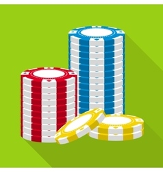 Casino gambling chips stack vector image vector image