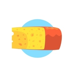 Cheese farm product colorful sticker vector
