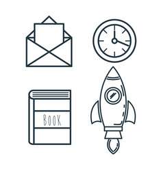 Creative startup set icons vector