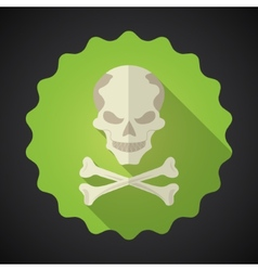 Crosed Bones Flat icon background vector image vector image