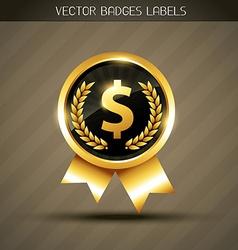 dollar label vector image