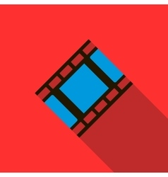 Film strip icon in flat style vector image vector image