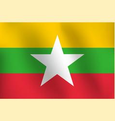 flag of burma - vector image