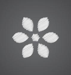 Flower sketch logo doodle icon vector