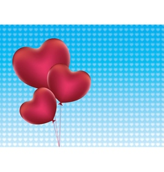 Heart Shaped Balloons2 vector image vector image