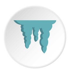 icicles icon flat style vector image