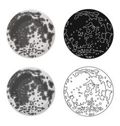 moon icon in cartoon style isolated on white vector image vector image