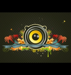 music scene vector image vector image