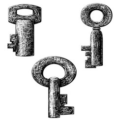 Old style key vector