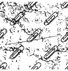 Paperclip pattern grunge monochrome vector