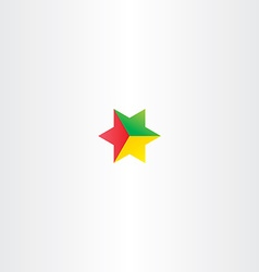 red yellow green star logo icon design vector image