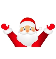 Santa Claus on a white background vector image vector image