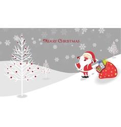 santa with presents vector image