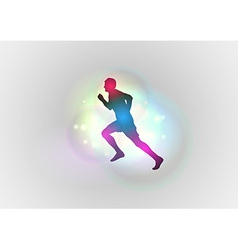 sport abstract runner left vector image vector image