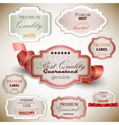Superior Quality Satisfaction Label vector image vector image