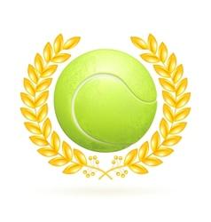 Tennis emblem vector image