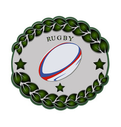 the theme rugby vector image vector image
