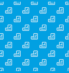 translate button pattern seamless blue vector image vector image