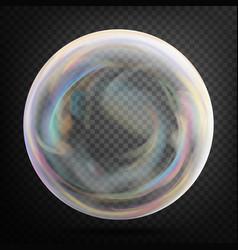 Transparent soap bubble realistic vector