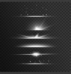 Transparent white light streak effect background vector