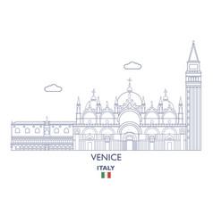 Venice city skyline vector