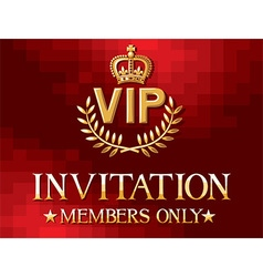 VIP Banner vector image