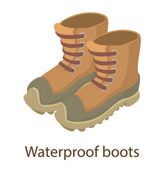 Waterproof boot icon isometric style vector