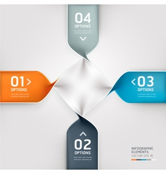 Abstract spiral infographics options banner vector image