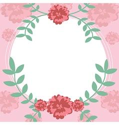 Flower and leaf frame background vector image