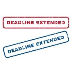 Deadline extended rubber stamps vector