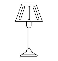 Floor lamp decoration thin line vector