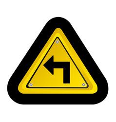 Emblem notice with arrow icon vector