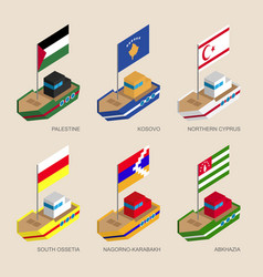 sometric ships of partially recognised states vector image