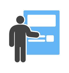 ticket machine vector image